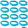 Non Slip Sports Headbands 12 Braided Athletic Head Bands Teal