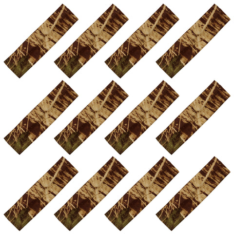 Cotton Headbands 12 Soft Stretch Headband Sweat Absorbent Elastic Head Band Real Tree Camo Brown