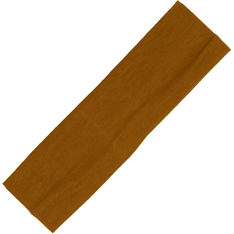 Cotton Headband Soft Stretch Headbands Sweat Absorbent Elastic Head Band Caramel
