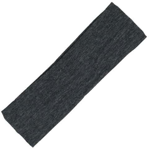 Cotton Headband Soft Stretch Headbands Sweat Absorbent Elastic Head Band Charcoal