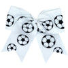 Sports Bows for Girls Large Hair Bows with Ponytail Holder Softball Volleyball Basketball Soccer Ribbon