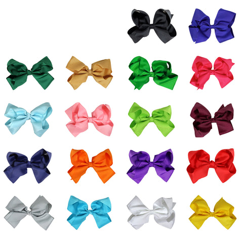 24 You Pick Colors Classic Cheer Bows Large 7 Inch Hair Bow with Clip