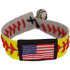 Softball Flag Sports Bracelet Wristlet