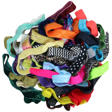 Headbands Fold Over Elastic 10 Pack Mystery Grab Bag