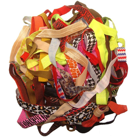 "Fold Over Elastic By The Yard Grab Bag 8 Yards 5/8"" Ribbon Material"