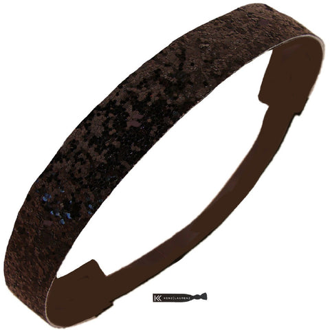 Glitter Headband Girls Headband Sparkly Hair Head Band Black