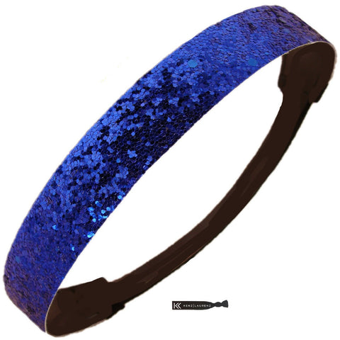 Glitter Headband Girls Headband Sparkly Hair Head Band Blue