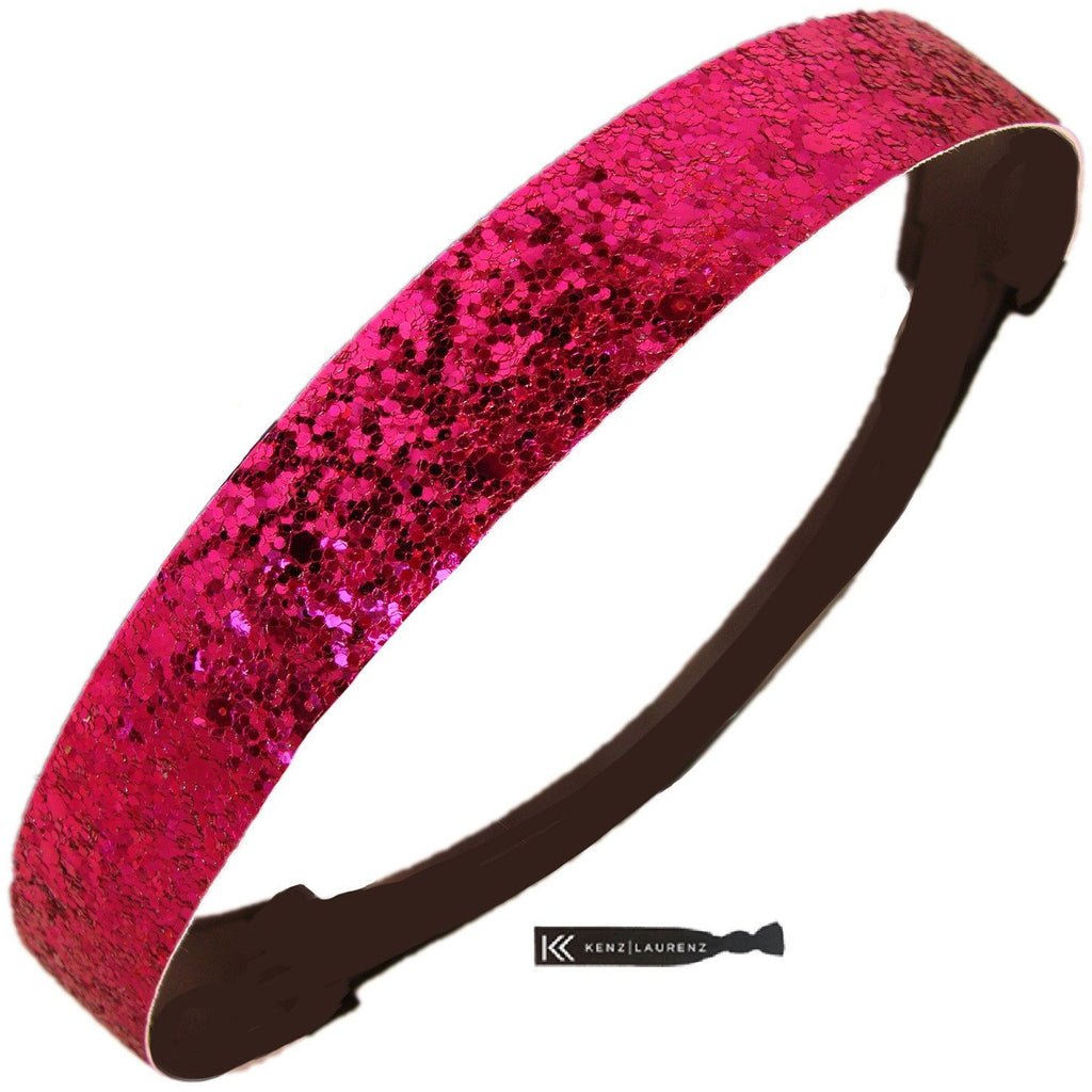 Glitter Headband Girls Headband Sparkly Hair Head Band Hot Pink