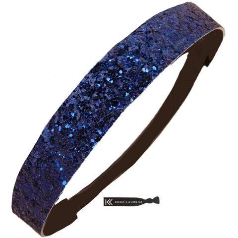 Glitter Headband Girls Headband Sparkly Hair Head Band Navy
