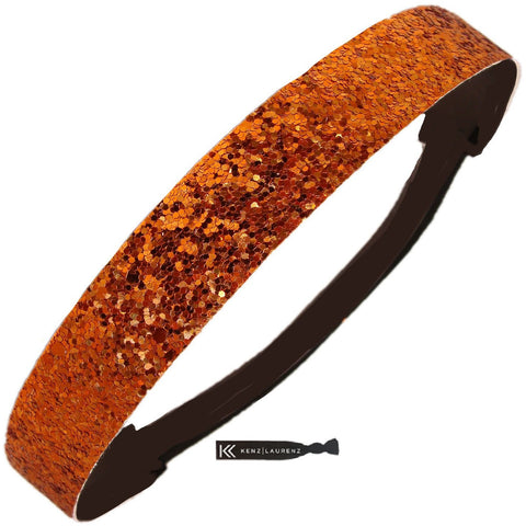 Glitter Headband Girls Headband Sparkly Hair Head Band Orange