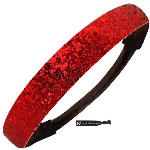 Glitter Headband Girls Headband Sparkly Hair Head Band Red