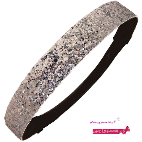Glitter Headband Girls Headband Sparkly Hair Head Band Silver