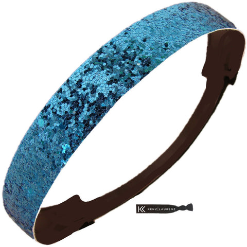 Glitter Headband Girls Headband Sparkly Hair Head Band Teal