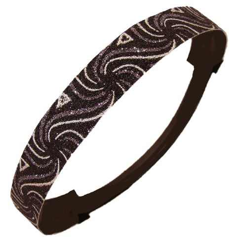 Glitter Headband Girls Headband Sparkly Hair Head Band Swirl