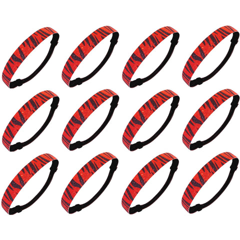 Glitter Headbands 12 Girls Headband Sparkly Hair Head Bands Zebra Red Black