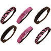 Glitter Headbands 12 Girls Headband Sparkly Hair Head Bands 6 Pack Zebra Light Pink Black
