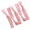 Hair Ties 5 Elastic Light Pink Ponytail Holders Ribbon Knotted Bands