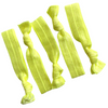 Hair Ties 5 Elastic Neon Yellow Ponytail Holders Ribbon Knotted Bands