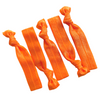 Hair Ties 5 Elastic Orange Ponytail Holders Ribbon Knotted Bands
