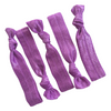 Hair Ties 5 Elastic Purple Ponytail Holders Ribbon Knotted Bands