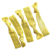 Hair Ties 5 Elastic Yellow Ponytail Holders Ribbon Knotted Bands
