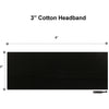 Wide Cotton Headbands 12 Soft Stretch Headband Sweat Absorbent Elastic Head Bands Black