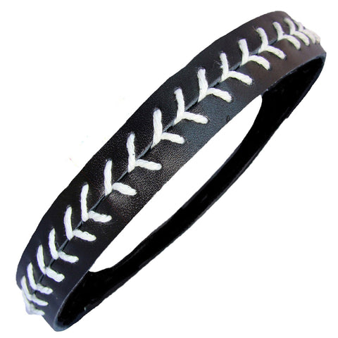 Softball Headband Non Slip Leather Sports Head Bands Black White
