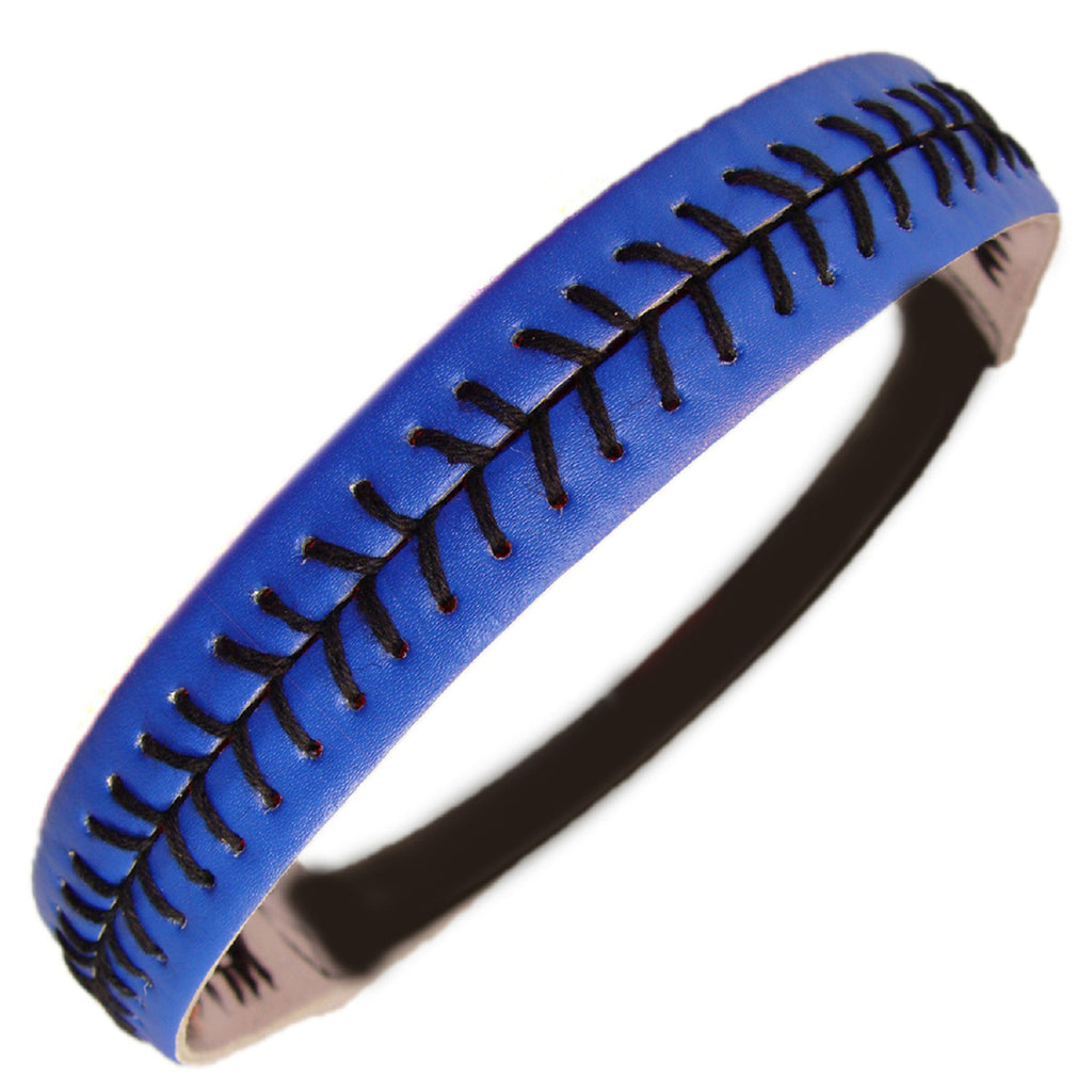 Softball Headband Non Slip Leather Sports Head Bands Blue Black