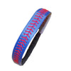 Softball Headband Non Slip Leather Sports Head Bands Blue Red