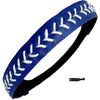 Softball Headband Non Slip Leather Sports Head Bands Blue White