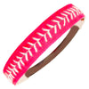Softball Headband Non Slip Leather Sports Head Bands Pink White