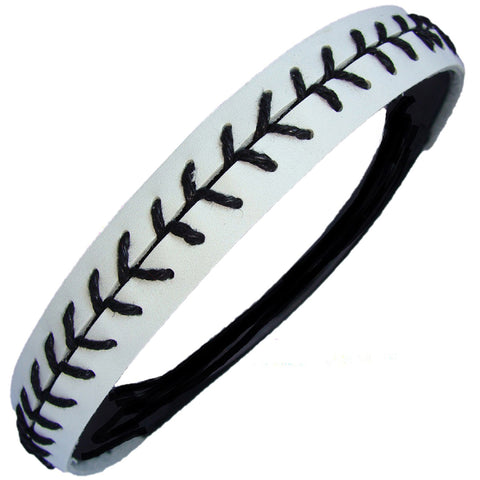 Softball Headband Non Slip Leather Sports Head Bands White Black
