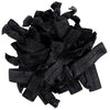 Hair Ties 20 Elastic Black Noir Ponytail Holders Ribbon Knotted Bands