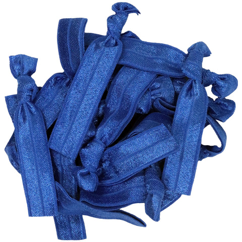 Hair Ties 20 Elastic Blue Ponytail Holders Ribbon Knotted Bands