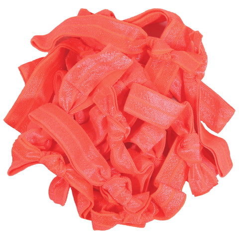Hair Ties 20 Elastic Coral Ponytail Holders Ribbon Knotted Bands