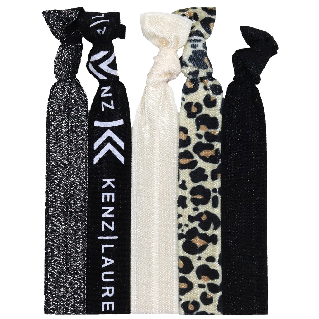 Hair Ties 5 Pack Leopard