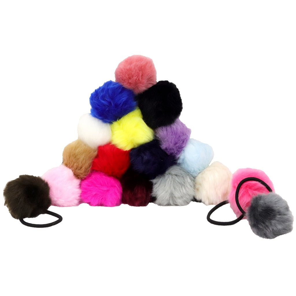 6 Pack Grab Bag Hair Tie Poms Hair Elalstics