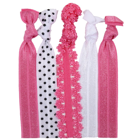 Hair Ties 5 Pack Pretty In Pink