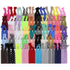 Hair Ties 100 Elastic Prints and Solids Ponytail Holders Ribbon Knotted Bands