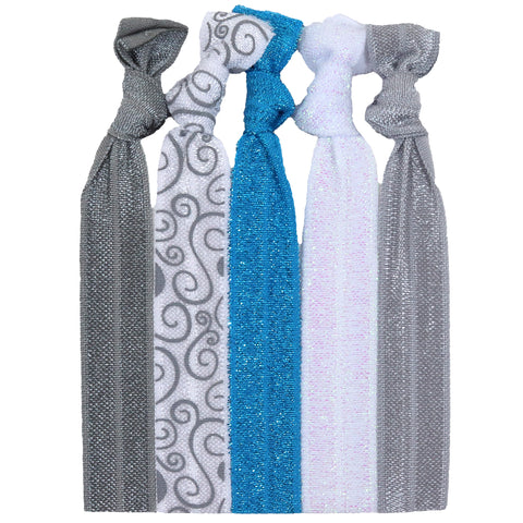 Hair Ties 5 Pack Winter Wonderland