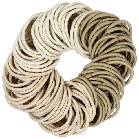 Hair Elastics 100 Pack Blonde Ombre