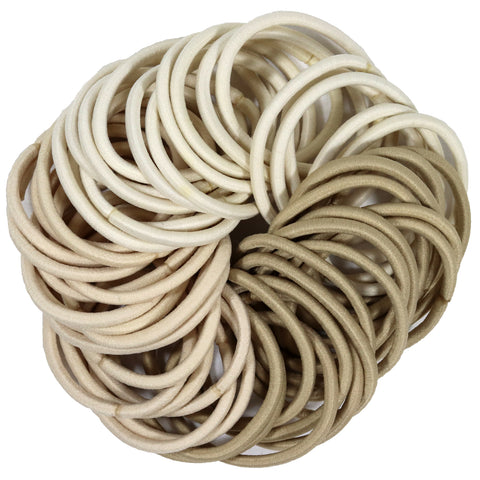 Hair Elastics 50 Pack Blonde Ombre