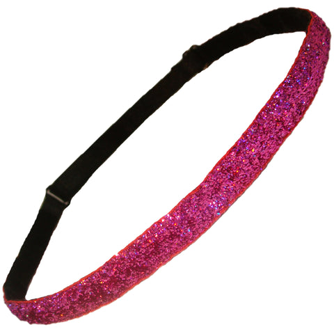 Adjustable Glitter Headband 1 Pink