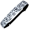 Adjustable Soccer Headband Black and White