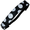 Adjustable Volleyball Headband Black White No Slip Grip 1