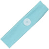 Button Ear Saver Cotton Headband Soft Stretch For Nurses Healthcare Workers Light Blue