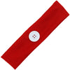 Button Ear Saver Cotton Headband Soft Stretch For Nurses Healthcare Workers Red