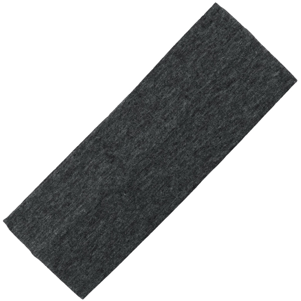 Wide Cotton Headband Soft Stretch Headbands Sweat Absorbent Elastic Head Band Charcoal