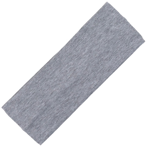 Wide Cotton Headband Soft Stretch Headbands Sweat Absorbent Elastic Head Band Gray