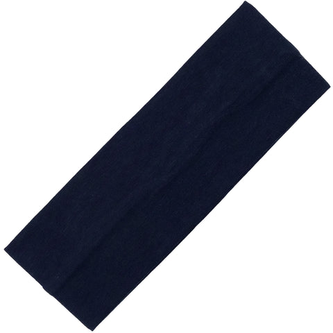 Wide Cotton Headband Soft Stretch Headbands Sweat Absorbent Elastic Head Band Navy